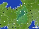 2020年01月13日の滋賀県のアメダス(風向・風速)