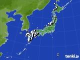 アメダス実況(降水量)(2020年01月14日)