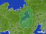 2020年01月15日の滋賀県のアメダス(風向・風速)