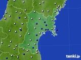 2020年01月17日の宮城県のアメダス(風向・風速)