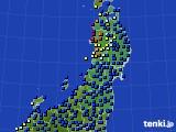 2020年01月18日の東北地方のアメダス(日照時間)
