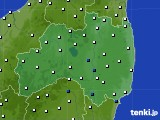 福島県のアメダス実況(風向・風速)(2020年01月18日)