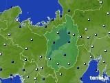 2020年01月18日の滋賀県のアメダス(風向・風速)