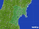 2020年01月18日の宮城県のアメダス(風向・風速)