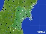 2020年01月19日の宮城県のアメダス(気温)