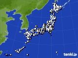 2020年01月20日のアメダス(風向・風速)