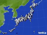 2020年01月21日のアメダス(風向・風速)