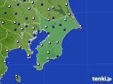 2020年01月21日の千葉県のアメダス(風向・風速)
