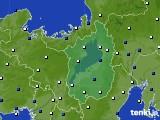 2020年01月21日の滋賀県のアメダス(風向・風速)