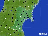 2020年01月21日の宮城県のアメダス(風向・風速)