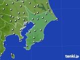 2020年01月22日の千葉県のアメダス(風向・風速)