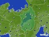 2020年01月24日の滋賀県のアメダス(風向・風速)