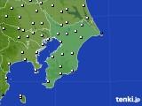 2020年01月25日の千葉県のアメダス(風向・風速)