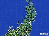 2020年01月26日の東北地方のアメダス(気温)