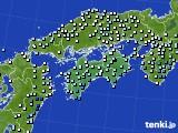 四国地方のアメダス実況(降水量)(2020年01月27日)