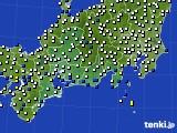 2020年01月27日の東海地方のアメダス(風向・風速)