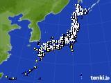 2020年01月27日のアメダス(風向・風速)