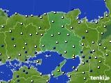 兵庫県のアメダス実況(風向・風速)(2020年01月27日)