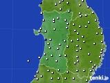 2020年01月27日の秋田県のアメダス(風向・風速)