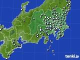 関東・甲信地方のアメダス実況(降水量)(2020年01月28日)