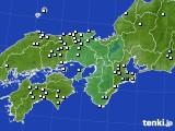 近畿地方のアメダス実況(降水量)(2020年01月28日)