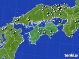 四国地方のアメダス実況(降水量)(2020年01月28日)