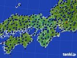近畿地方のアメダス実況(日照時間)(2020年01月28日)