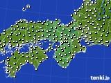近畿地方のアメダス実況(気温)(2020年01月28日)
