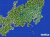 関東・甲信地方のアメダス実況(風向・風速)(2020年01月28日)