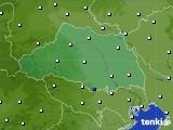 埼玉県のアメダス実況(風向・風速)(2020年01月28日)