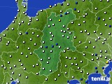 長野県のアメダス実況(風向・風速)(2020年01月28日)