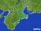 三重県のアメダス実況(風向・風速)(2020年01月28日)