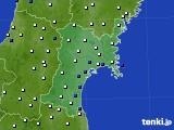 2020年01月28日の宮城県のアメダス(風向・風速)