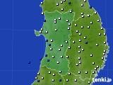 2020年01月28日の秋田県のアメダス(風向・風速)