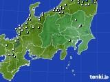 関東・甲信地方のアメダス実況(降水量)(2020年01月29日)
