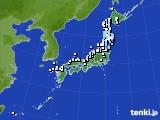 アメダス実況(降水量)(2020年01月29日)