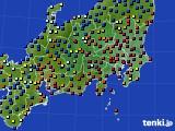 関東・甲信地方のアメダス実況(日照時間)(2020年01月29日)