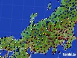北陸地方のアメダス実況(日照時間)(2020年01月29日)