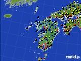 九州地方のアメダス実況(日照時間)(2020年01月29日)