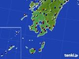 鹿児島県のアメダス実況(日照時間)(2020年01月29日)