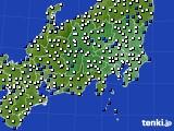 関東・甲信地方のアメダス実況(風向・風速)(2020年01月29日)