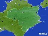 徳島県のアメダス実況(風向・風速)(2020年01月29日)