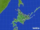 北海道地方のアメダス実況(降水量)(2020年01月30日)