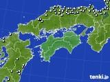 四国地方のアメダス実況(降水量)(2020年01月30日)