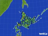 北海道地方のアメダス実況(積雪深)(2020年01月30日)