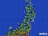 2020年01月30日の東北地方のアメダス(日照時間)