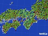 近畿地方のアメダス実況(日照時間)(2020年01月30日)