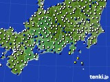2020年01月30日の東海地方のアメダス(風向・風速)