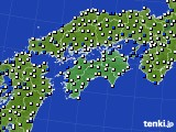 四国地方のアメダス実況(風向・風速)(2020年01月30日)