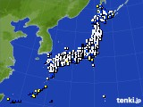 アメダス実況(風向・風速)(2020年01月30日)